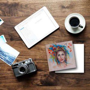 Art Note Card Woman's Strength