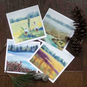 Four seasons greeting cards set of 4